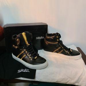 NIB Sebastian Leather Sneakers